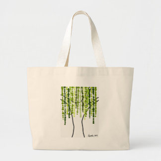 weeping willow large tote bag