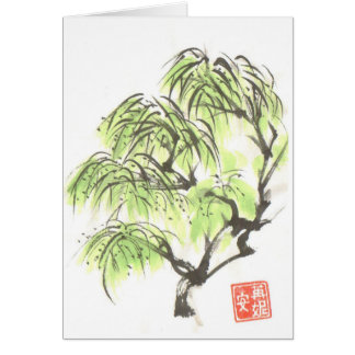 Weeping Willow Tree Blank Card