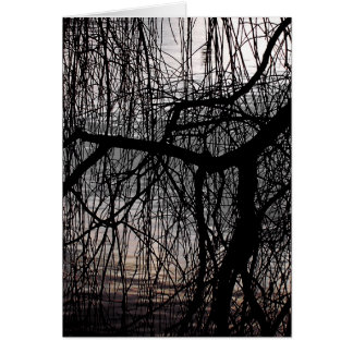 WEEPING WILLOW TREE CARD