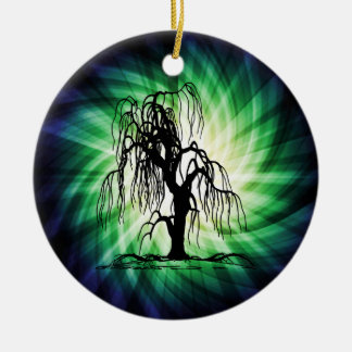 Weeping Willow Tree Ceramic Ornament