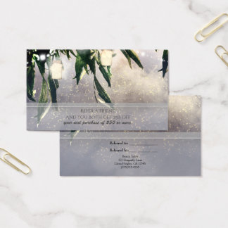 Weeping Willow Tree & Mason Jars Refer a Friend Business Card