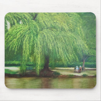 weeping willow tree mouse pad