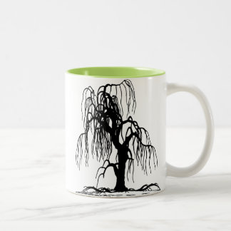 Weeping Willow Tree Two-Tone Coffee Mug