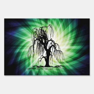 Weeping Willow Tree Yard Sign