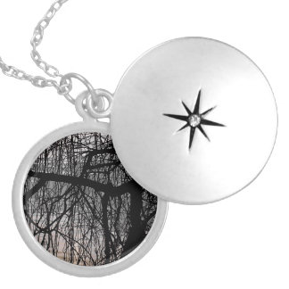 WEEPING WILLOW TREES SILVER PLATED NECKLACE