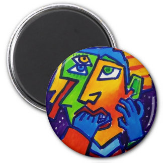 Weeping Woman D 1 by Piliero 2 Inch Round Magnet