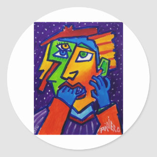 Weeping Woman D 1 by Piliero Stickers