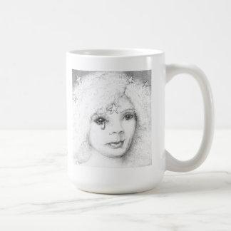 Weeping Woman with Stars Classic White Coffee Mug