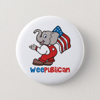 WeePublican and Flag Pinback Button