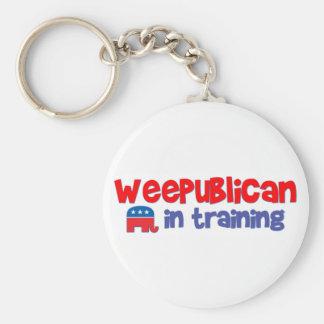 WeePublican en el entrenamiento Llavero Redondo Tipo Pin
