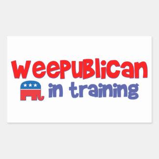 WeePublican en el entrenamiento Pegatina Rectangular