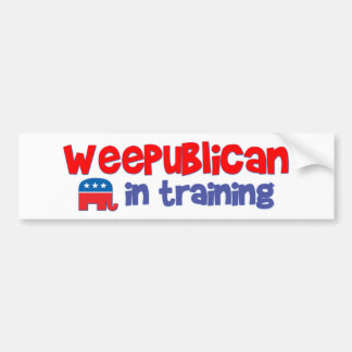 WeePublican in Training Bumper Sticker