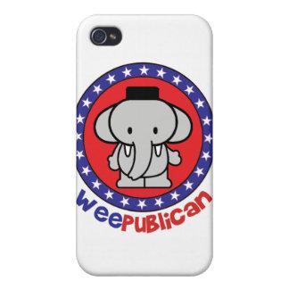 WeePublican lindo iPhone 4 Carcasa