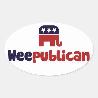 Weepublican Oval Sticker