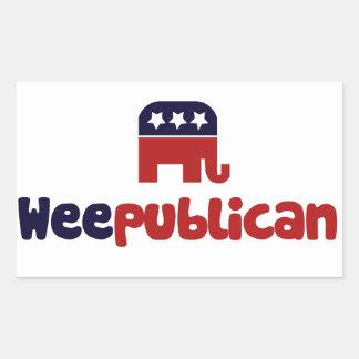 Weepublican Rectangular Sticker