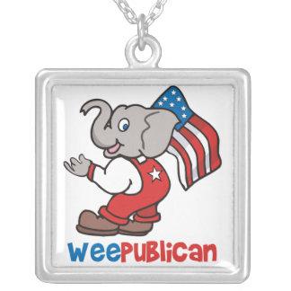 WeePublican y bandera Colgante Cuadrado