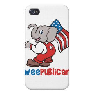 WeePublican y bandera iPhone 4/4S Fundas
