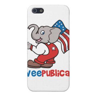 WeePublican y bandera iPhone 5 Funda