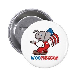 WeePublican y bandera Pins