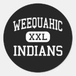 Weequahic - Indians - High - Newark New Jersey Stickers