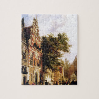 Weeshuis in Enkhuizen by Cornelis Springer Jigsaw Puzzle