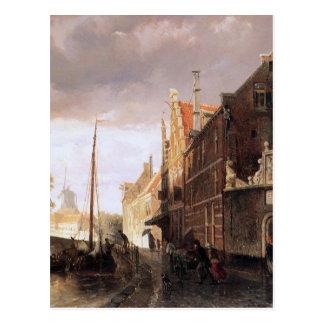 Weeshuis in Kampen by Cornelis Springer Postcard