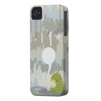weezilla with speech bubble for custom message iPhone 4 case