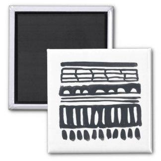 Weft I | Modern Black Watercolor Magnet