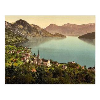 Weggis, Rigi, Switzerland classic Photochrom Postcard