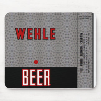 WEHLE FLAT TOP BEER CAN DESIGN MOUSEPAD