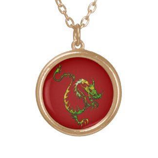 Wei the Magical Dragon Fantasy Art Custom Necklace