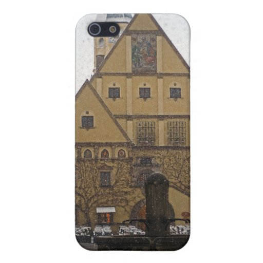 Weiden id Opf - Snowfall at the Rathaus iPhone 5 Covers
