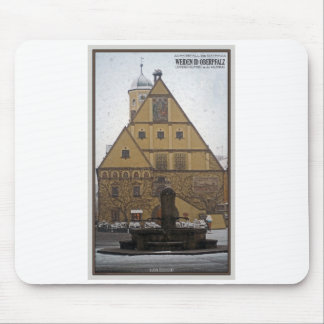 Weiden id Opf - Snowfall at the Rathaus Mouse Pad