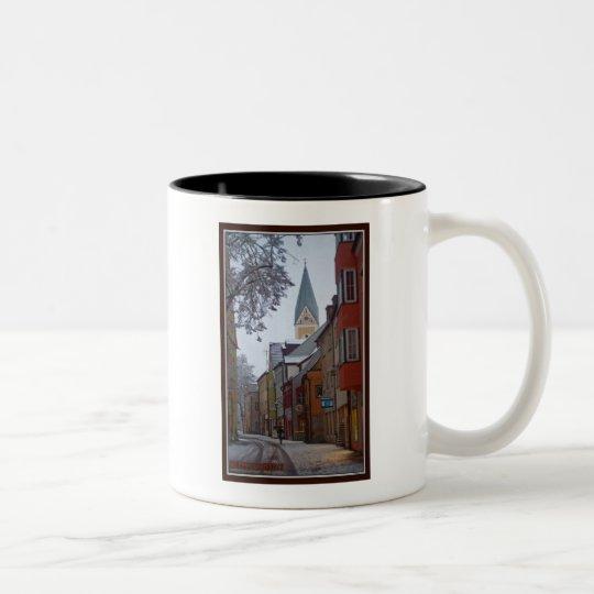 Weiden id Opf - Snowy Side Street Two-Tone Coffee Mug
