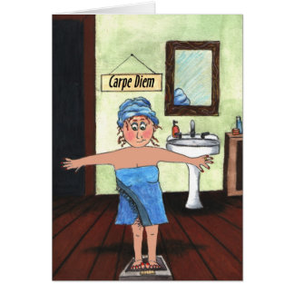 weigh loss tcard greeting card