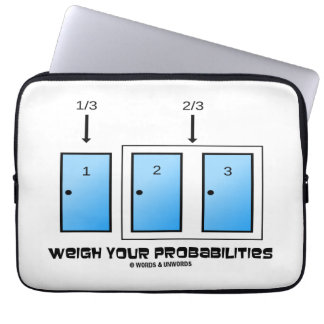 Weigh Your Probabilities Three Closed Doors Laptop Sleeves