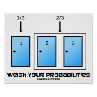 Weigh Your Probabilities Three Closed Doors Poster