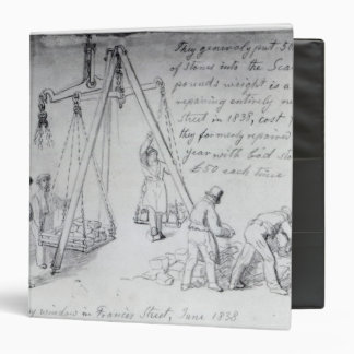 Weighing out stones on Francis Street, London Binder