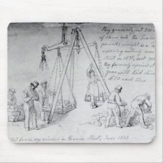 Weighing out stones on Francis Street, London Mouse Pad