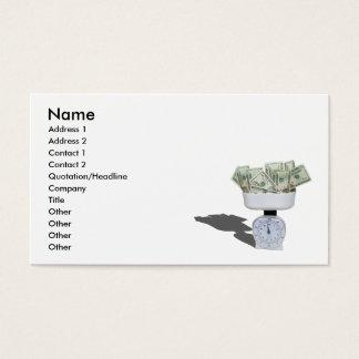 WeighingMoney103110, Name, Address 1, Address 2... Business Card