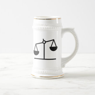 Weight and Balance Scale Beer Stein