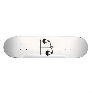Weight and Balance Scale Custom Skateboard