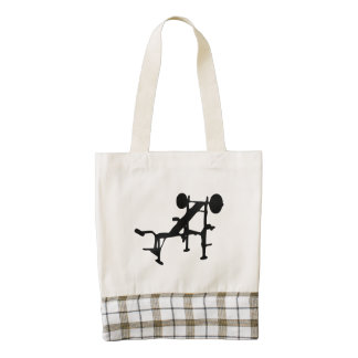 Weight Bench Zazzle HEART Tote Bag