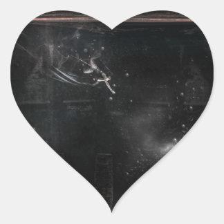 Weight beneath my sin pegatina en forma de corazón