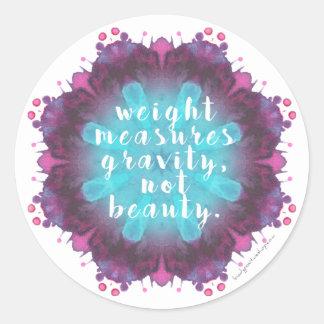 Weight Doesn't Measure Beauty Scale/Mirror Sticker