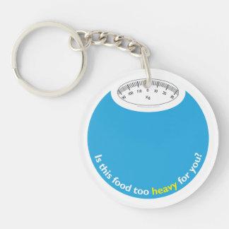 Weight & Health Conscious Single-Sided Round Acrylic Keychain
