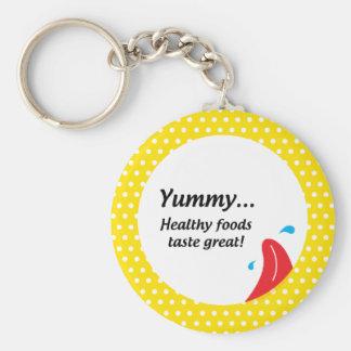 Weight & Health Conscious Basic Round Button Keychain