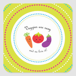 Weight & Health Conscious Square Sticker