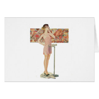 Weight In Vintage Illustration Card