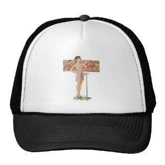 Weight In Vintage Illustration Trucker Hat